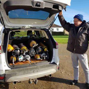 L'équipe de Forges repart avec son matériel... direction le Pays de Bray !