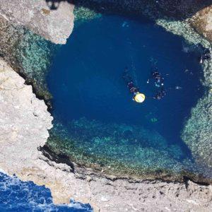 Maltes 2018 - Le Blue Hole, un trou de 15m de fond